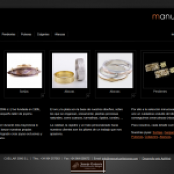 Diseño web Joyeria Manuel Cuellar en Castellón